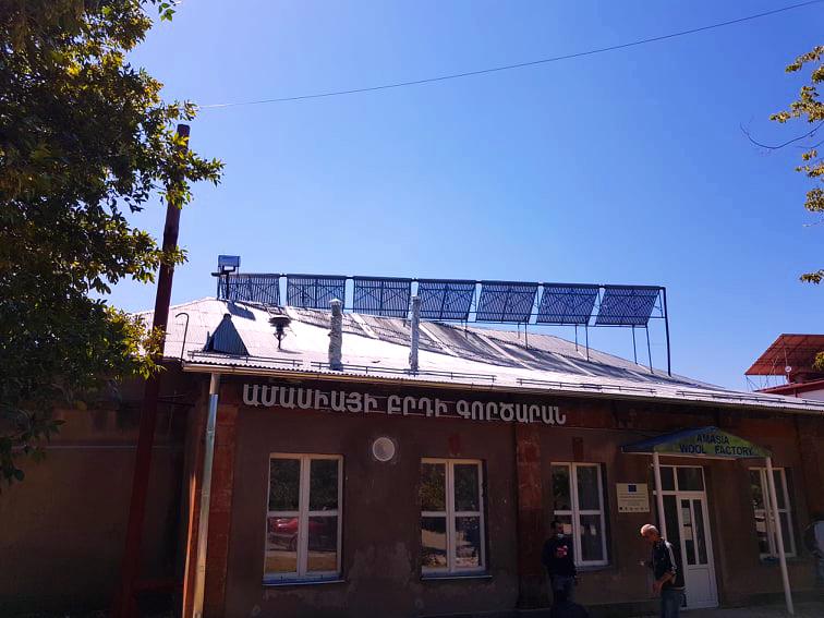 Ամասիայի բրդի գործարանը տաք ջուր կստանա անվճար, արևից