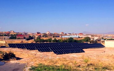 The installation of 150 kW and 2 10 kW regular PV stations are completed